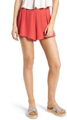 Lush Pleat Front High Waist Shorts