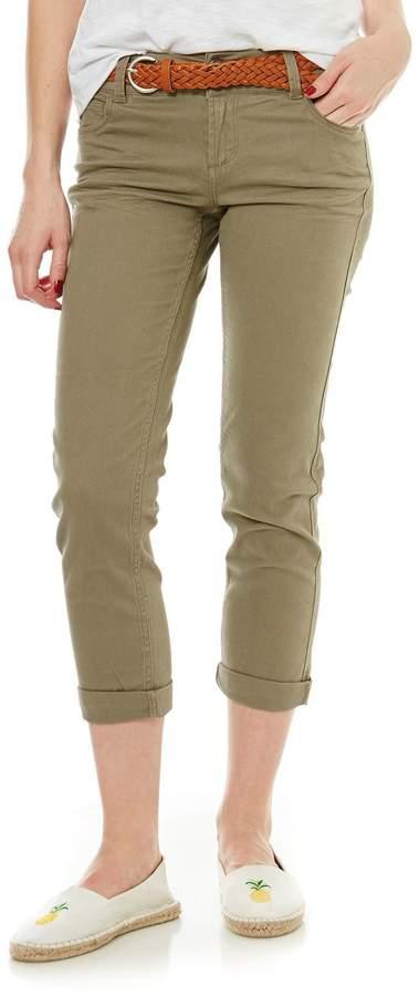 Jeans mit geradem Schnitt - khaki