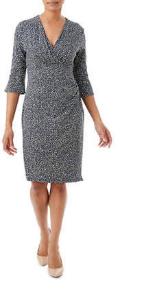 Olsen Casual Coast Side-Ruched Animal-Print Dress