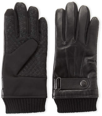 Gloves International Black Leather Touch Screen Gloves