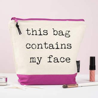 Lola & Gilbert London Ltd. 'This Bag Contains My Face' Washbag