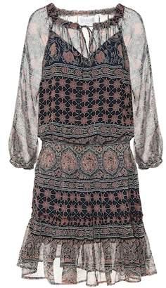 Velvet Printed minidress