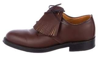 Yuketen Leather Kiltie Derby Shoes