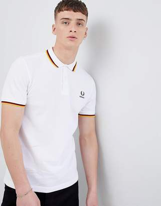Fred Perry Germany Polo in White