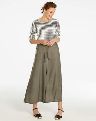 Fashion World Khaki Centre Front Pleat Maxi Skirt