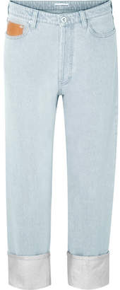 Paco Rabanne Coated Mid-rise Boyfriend Jeans - Silver