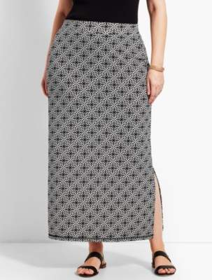 Talbots Plus Size Exclusive Tile Knit Jersey Maxi Skirt