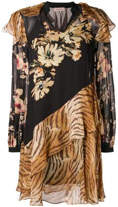Twin-Set mixed print dress