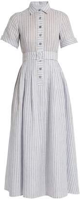 GÜL HÜRGEL Short-sleeved striped cotton and linen-blend dress $669 thestylecure.com