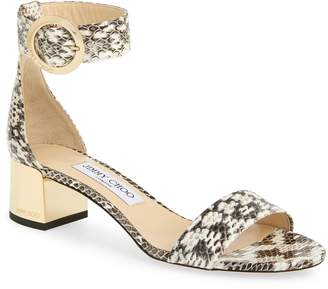 f35f1ad78709 Jimmy Choo Jaimie Genuine Snakeskin Ankle Strap Sandal
