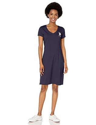U.S. Polo Assn. Women's Deep V-Neck Tee Dress