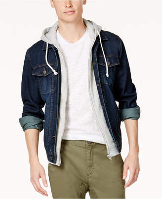American Rag Men's Hooded Denim Jacket