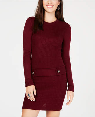 BCX Juniors' Solid Sweater Dress