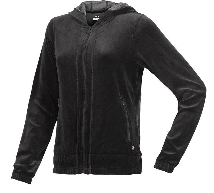 Fila Women's Hooded Velour Jacket
