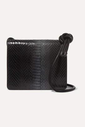Dries Van Noten Snake-effect Leather Shoulder Bag - Black