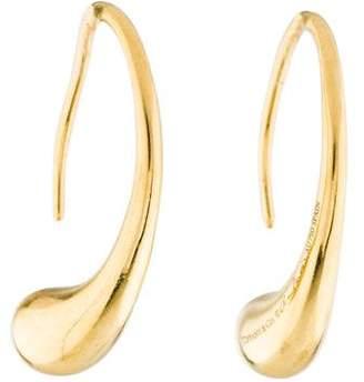 Tiffany & Co. 18K Teardrop Hoop Earrings