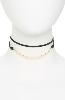 Junior Women's Girly Curved Bar Suede Choker $15 thestylecure.com