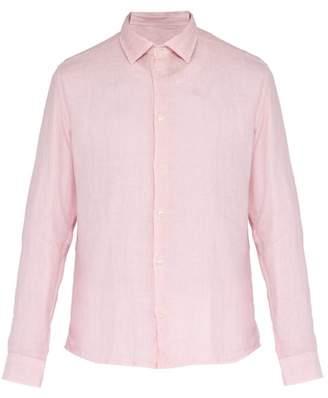 Altea Bond Long Sleeved Linen Shirt - Mens - Pink