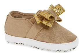 MICHAEL Michael Kors Baby Bowi Metallic Slip-On Crib Shoe