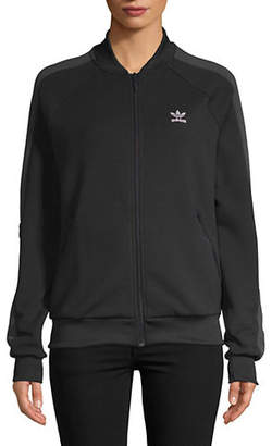 adidas Raglan-Sleeve Logo Sweater
