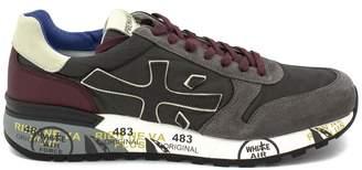 Premiata Mick Sneaker In Grey Suede Upper And Nylon.