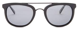 Ted Baker Men's 52mm Modified Round Full Rim Polarized Sunglasses