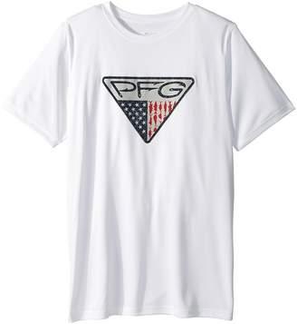 Columbia Kids PFG Triangle Fill Short Sleeve Shirt Boy's T Shirt