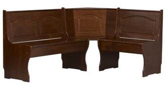 Linon Chelsea Corner Nook, Walnut, 17.75 inch Seat Height