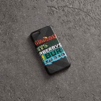 Burberry Tag Print London Check iPhone 8 Case