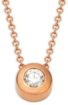Effy 14K Rose Gold & Diamond Necklace