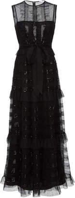 RED Valentino Tulle Microsequins Dress
