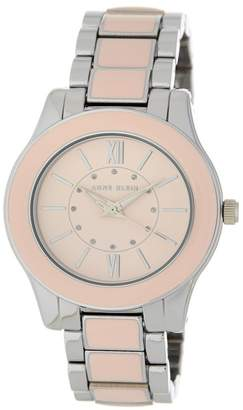 Anne Klein Women's Glossy Pink Bracelet Watch