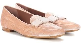 Tabitha Simmons Miny velvet loafers