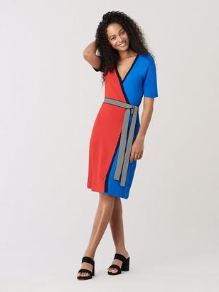 Diane von Furstenberg Halston Knit Wrap Dress