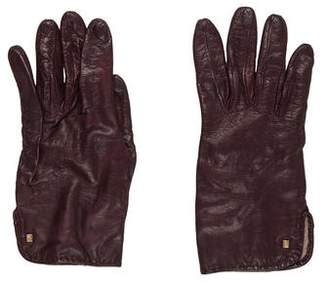 Fendi Leather Driving Gloves