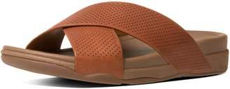 FitFlop SURFER TM Perf Leather Slide Sandals