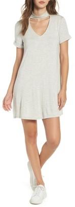 Women's Everly Choker T-Shirt Dress $39 thestylecure.com