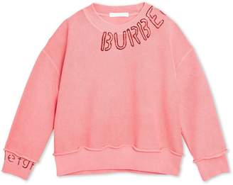 Burberry Stencil Logo Print Cotton Sweatshirt
