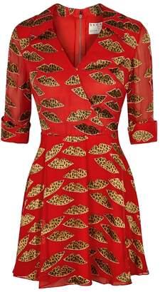 Alice + Olivia X Donald Robertson Catina Devoré Mini Dress