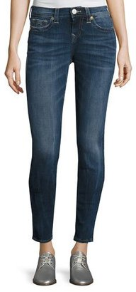 True Religion Halle Mid-Rise Skinny Jeans, Oceana Blue (Indigo) $219 thestylecure.com