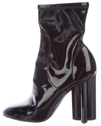 Louis Vuitton Fleur Patent Leather Ankle Boots