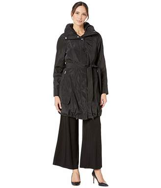 Andrew Marc Navarre Bubble Trench Coat w/ Hood