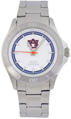 Jack Mason Men's Auburn Tigers Sport Bracelet Silver Watch