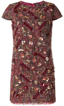Elisabetta Franchi short tweed dress