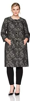 Kasper Women's Plus Size Lace 4 Button Jacket