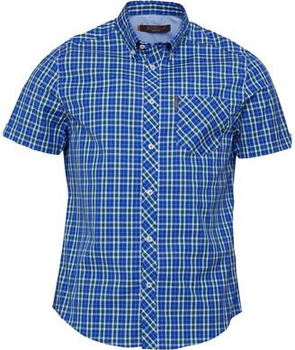 Ben Sherman Short Sleeve Heritage Check Shirt Blue