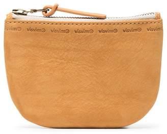 Visvim Orange Veggie Leather Zip Wallet