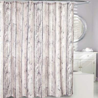 Moda at Home Oakwood Fabric Shower Curtain in Brown