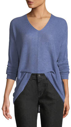 Eileen Fisher Organic Linen/Lyocell Box Sweater