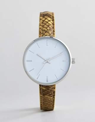 Asos Design Snakeskin Watch